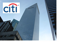 -- Manhattan, New York - Citigroup offices - Company logo --