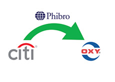 -- citigroup - phibro  - occidental petroleum - company logos - transfer --