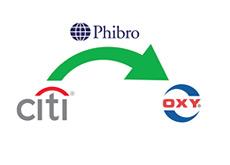 -- citigroup - phibro  - occidental petroleum - company logos - transfer --