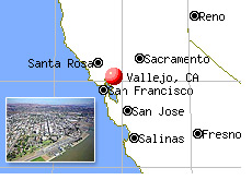 city of Vallejo - California - files for bankruptcy - city map and photo