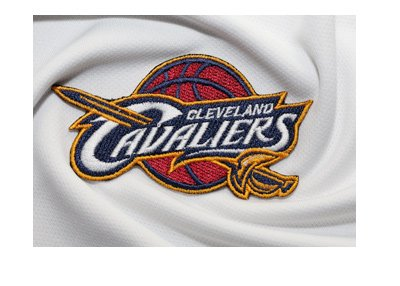 Cleveland Cavaliers logo on the jersey. Closeup.  Turbulence in the offseason.