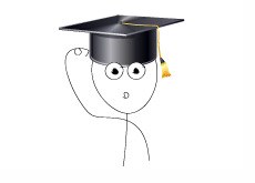 Illustration of a confused recent graduate