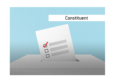 Dave explains the meaning of the term Constituent, when it comes to elections and voting.
