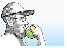 tips to staying productive - dave eating an apple