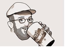 blogger dave manuel drinking his favorite beverage - coca cola slurpee from seven eleven