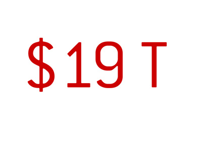 United States national debt reaches $19 trillion (T)