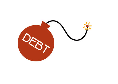 Debt Bomb - Illustration