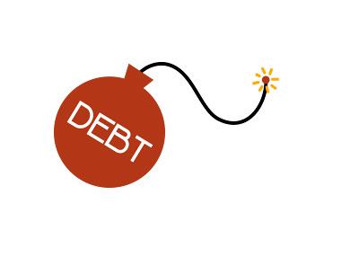 Debt Bomb - Illustration