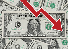-- us dollar on the decline --