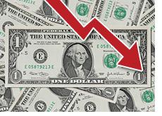 -- us dollar on the decline --