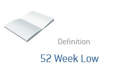 -- 52 Week Low definition - Finance --