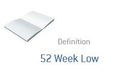 -- 52 Week Low definition - Finance --