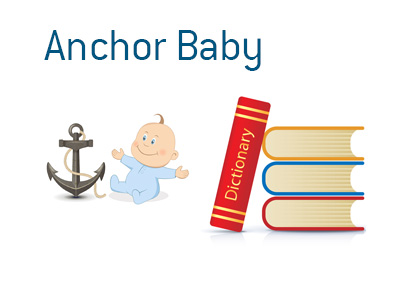 Definition of Anchor Baby.  What does it mean? - Illustration