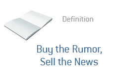 -- Term definition - Buy the Rumor - Sell the News --