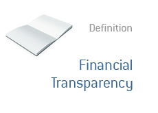 -- Financial Transparency definition --