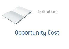 -- Term definition - finance - opportunity cost --