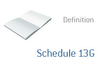 -- Dictionary definition - finance term - Schedule 13G --