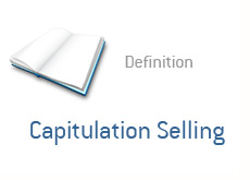 -- finance term - capitulation selling --