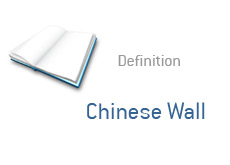 -- what is the chinese wall - financial term definition -