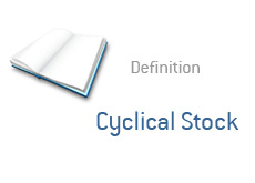 -- definition of financial term - cyclical stock - what is? --