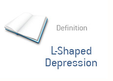 finance term definition - L shaped depression