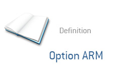 -- finance term definition - option arm --