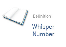-- what is whisper number?  financial term definition --