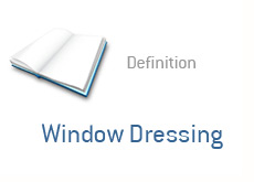 financial term definition - window dressing