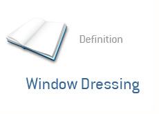 financial term definition - window dressing