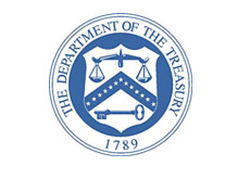 us department of the treasury - logo - blue and white - t-bill