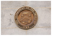 United States Department of Treasury building sign