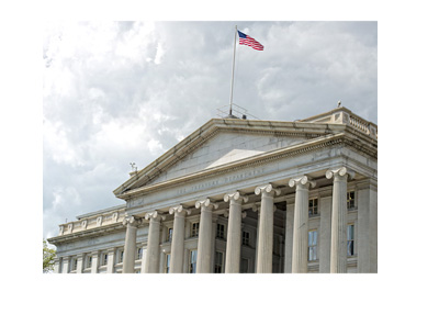 The United States of America - Department of Treasury - Photo taken on a cloudy day