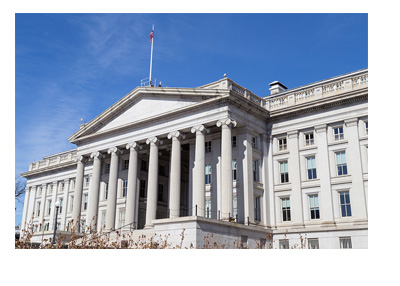 The Department of Treasury Building - United States of America - Sunny Cloudless Day - Photo