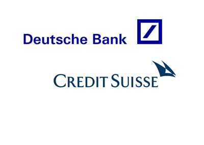 Logos of Deutsche Bank and Credit Suisse.  Year is 2016.