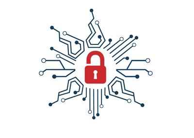 The concept illustration titled - The Digital Data Breach - Unlocked.