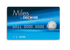 blue discover miles card - sample