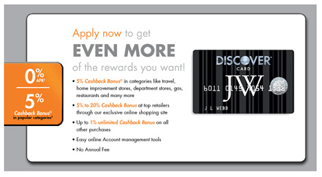 application form for the discover card