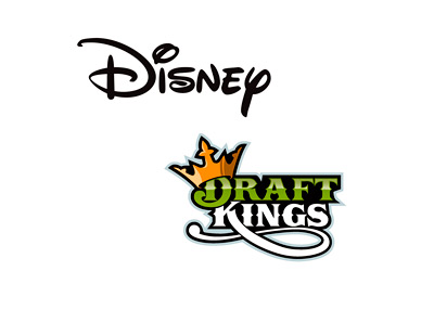 Disney and Draft Kings - Company Logos - Business Relationship
