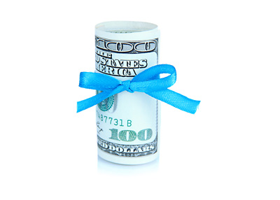 Dollar bill donation - Photo concept