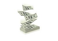 Stack of Dollars - Illustration