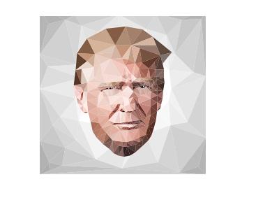 Donald Trump - Mosaic art style