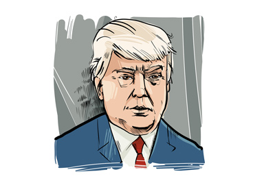Donald Trump - Profile drawing by artist Igor Zakowski.