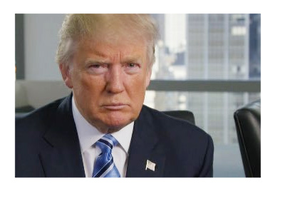 Donald Trump in a downtown office. Profile photo. Year 2016