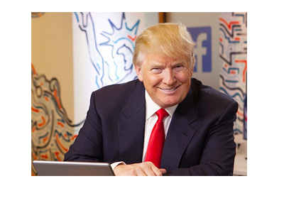 Donald Trump on his visit to Facebook - Instagram photo