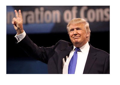 Donald Trump official website photo - Victory sign