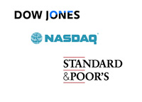 Dow Jones Industrial, Nasdaq and Standard & Poor - Logos