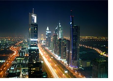 -- City of Dubai at night --