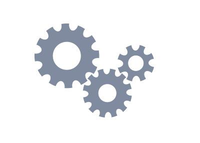 Gears representing the economy - Illustration - Concept