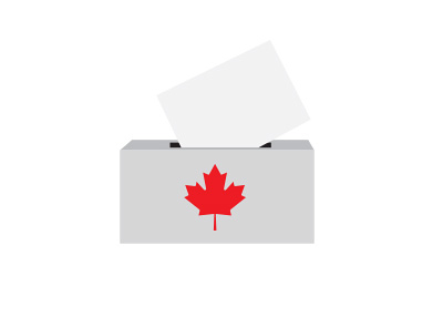 Canada Elections - Polling box - Illustration