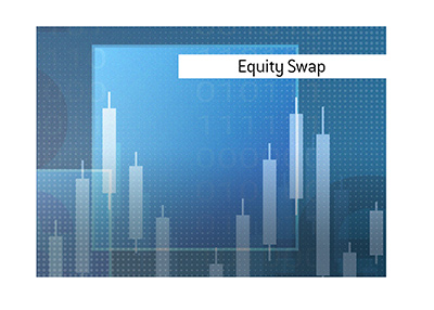 Equity Swap.  What is it and how is it done?  Explanation and a graphic.